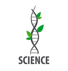 logo DNA in form of plant leaves vector image vector image