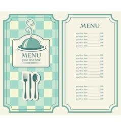 menu tray vector image vector image