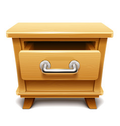 wooden drawer vector image