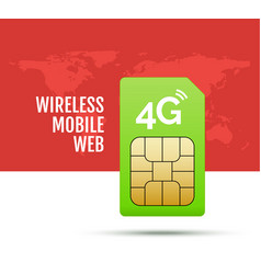 4g sim card world prepaid internet gsm phone vector