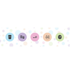 5 surprise icons vector