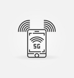 5g smartphone concept icon in thin line vector image