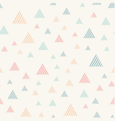 abstract seamless pattern with triangles pastel vector image