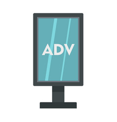 Advertising stand icon flat style vector