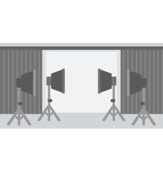 Background of empty photo studio vector