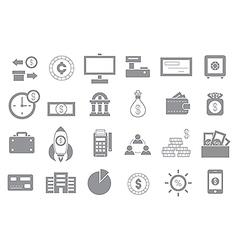 Banking gray icons set vector image