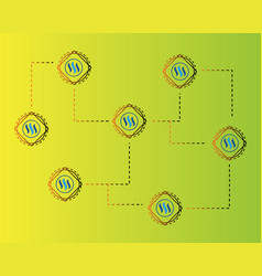 blockchain steem technology concept background vector image