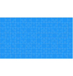 Blue puzzles pieces jigsaw - background vector