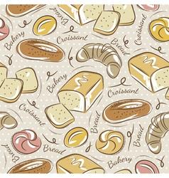 Bread pattern vector