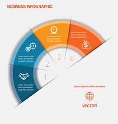 Business infographic template four positions vector image
