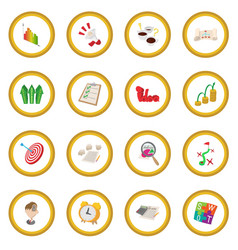 Business planning icon circle vector