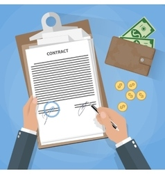 businessman document signing vector image