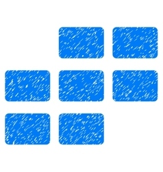 Calendar Grid Grainy Texture Icon vector