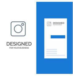 camera instagram photo social grey logo design vector image