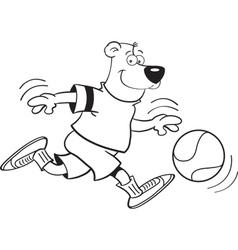 Cartoon Basketball Bear vector