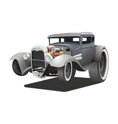 cartoon ratrod vector image