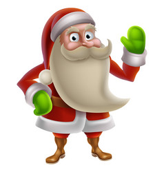 Cartoon santa waving vector