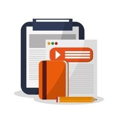 Checklist and digital marketing design vector