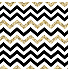 Chevron seamless pattern Glittering golden surface vector