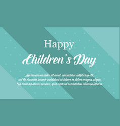 Children day background collection stock vector