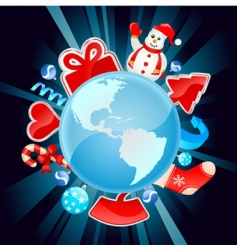 Christmas world vector image
