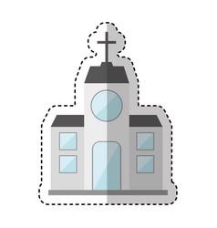 church building exterior icon vector image