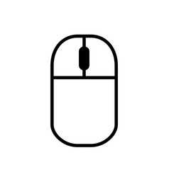 computer mouse simple black icon on white vector image