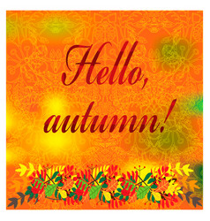 cozy autumn with fall colorful leaves vector image