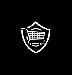 Customer protection icon flat design vector