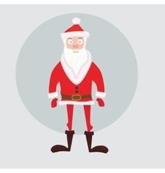 Cute Santa in red short down jacket vector image