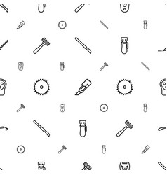 Cutter icons pattern seamless white background vector