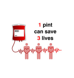 donation blood pint for trasfusion vector image