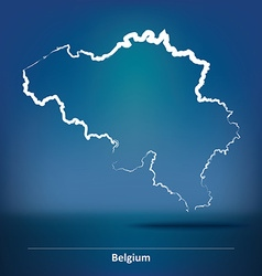 Doodle Map of Belgium vector image