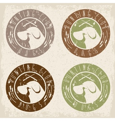 duck hunting retriever negative space grunge vector image