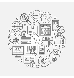 E-commerce round vector image