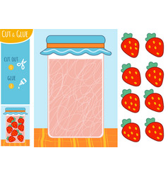education paper game for children strawberry in vector image