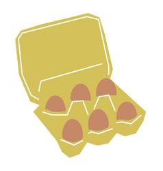 Eggs flat on white vector