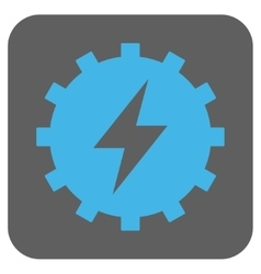 Electric Energy Gear Rounded Square Icon vector