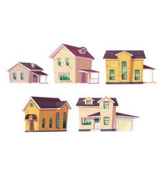evolution house architecture housing progress set vector image
