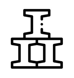factory chimney metallurgical icon vector image
