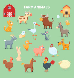 Farm animals and animals vector