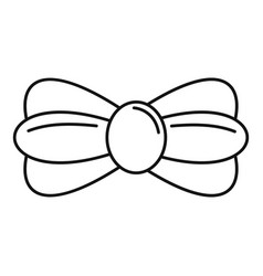fashion bow tie icon outline style vector image
