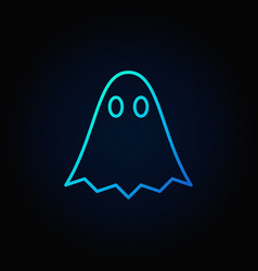 Ghost blue outline icon vector