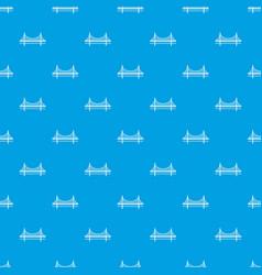 golden gate bridge pattern seamless blue vector image