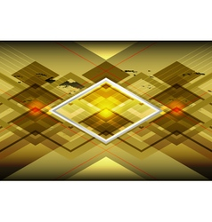 Golden geometric background vector