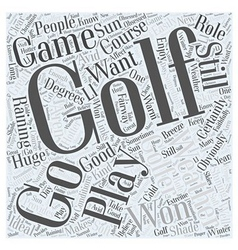 Golf Weather Word Cloud Concept vector image