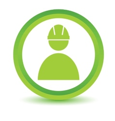 Green Working icon vector image