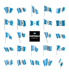 Guatemala flag on a white vector