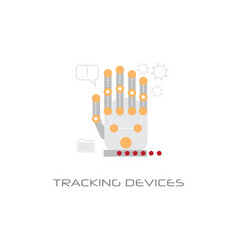 hand electronic tracking devices access technology vector image