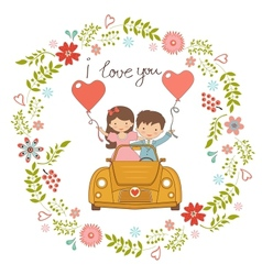 Happy couple vector image